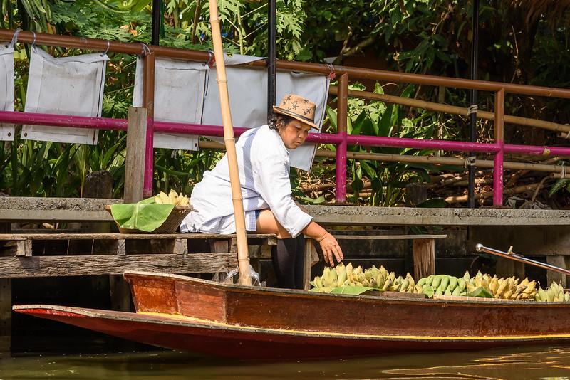 Fresh Bananas at the Floating Market