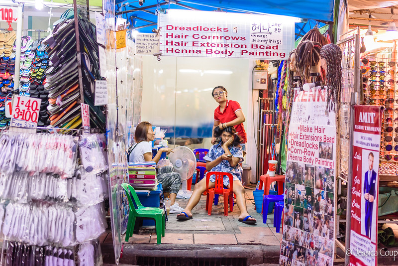 Getting Hair Done on Khao San Road