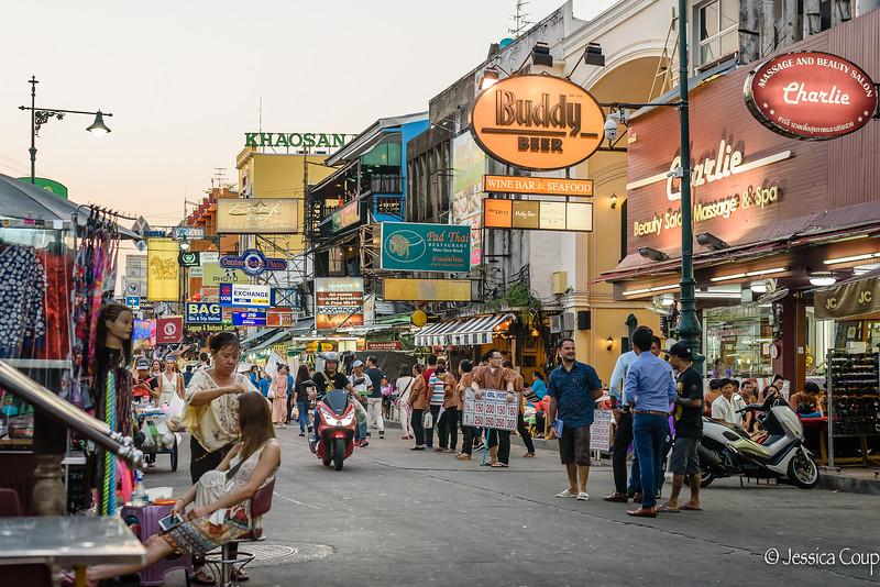 Sunset on Khao San Road