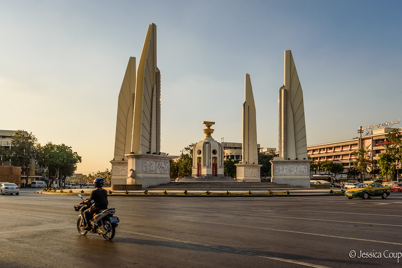 Monument of Democracy at Sunset