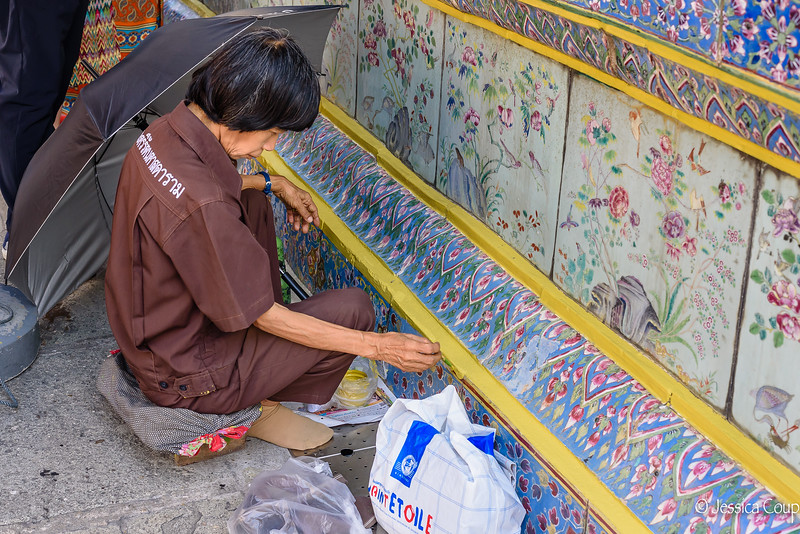 Painting the Wall at the Grand Palace