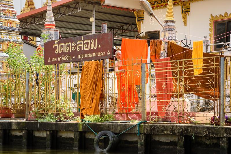 Monk Hanging Laundry