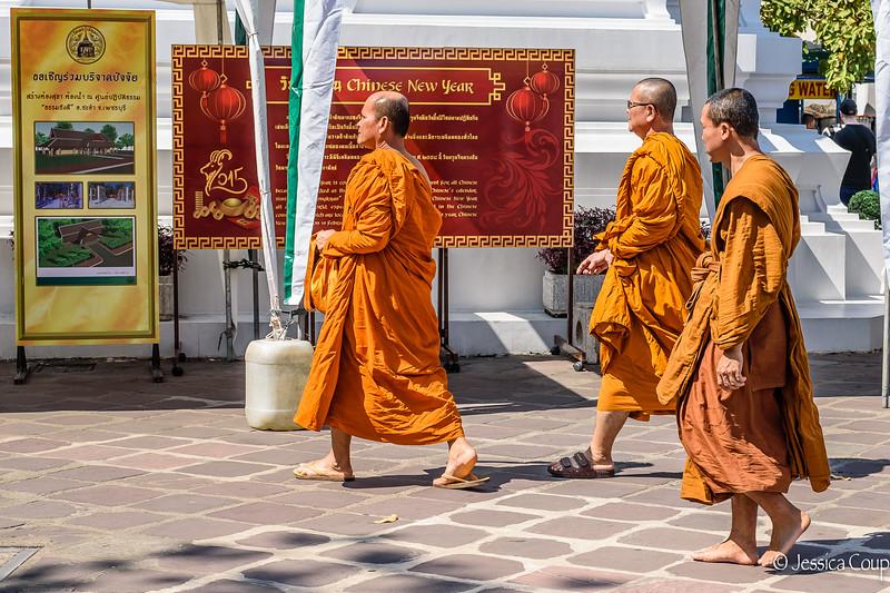 Monks at Wat Pho