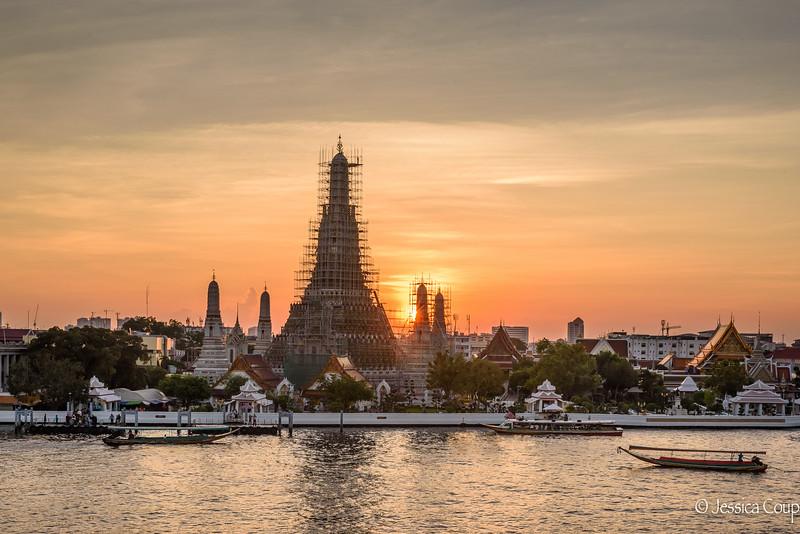 Wat Arun at Sunset in December