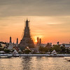 Wat Arun at Sunset in December