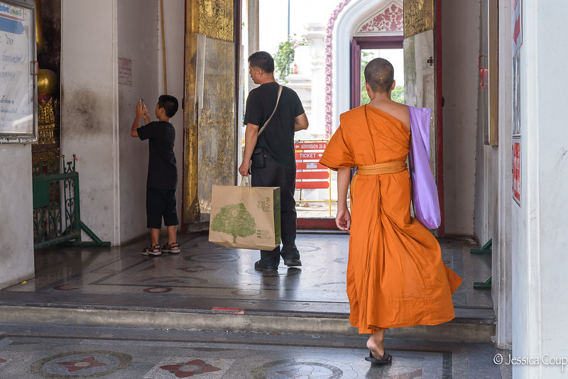 Exiting the Temple