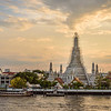Wat Arun at Sunset in April