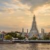 Wat Arun at Sunset in April