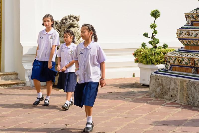 School Girls in Blue