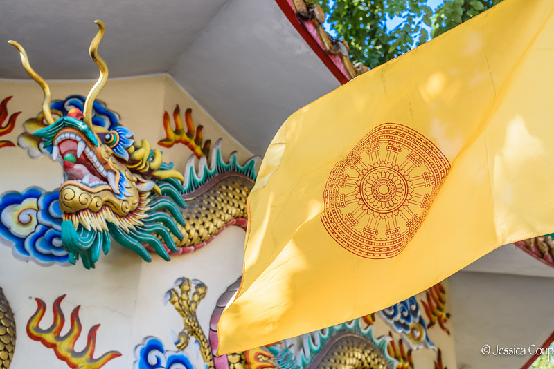 King's Flag Outside the Temple