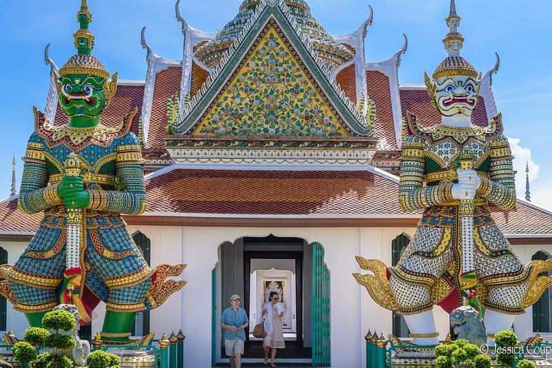 Guards at Wat Arun Ordination Hall