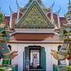 Guards at Wat Arun Ordination Hall