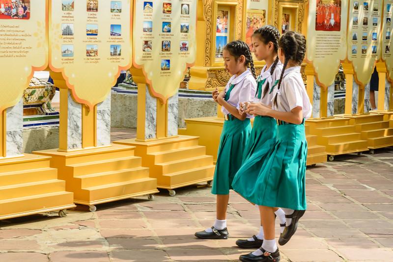School Girls in Green