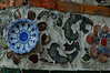 Mosaic made from ceramic dishes