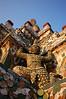 Guard holding up  Wat Arun