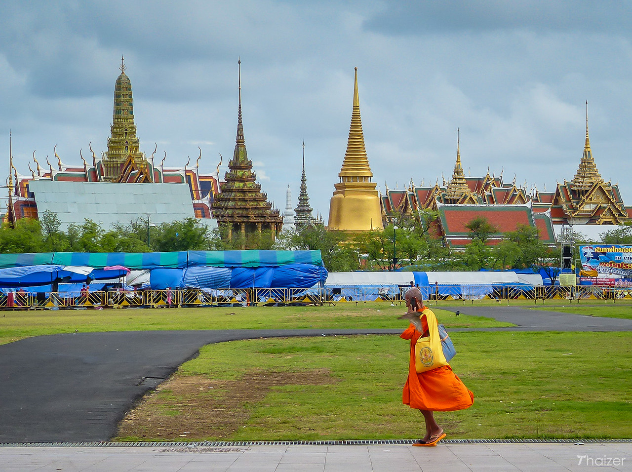 Grand Palace viewed from Sanam Luang