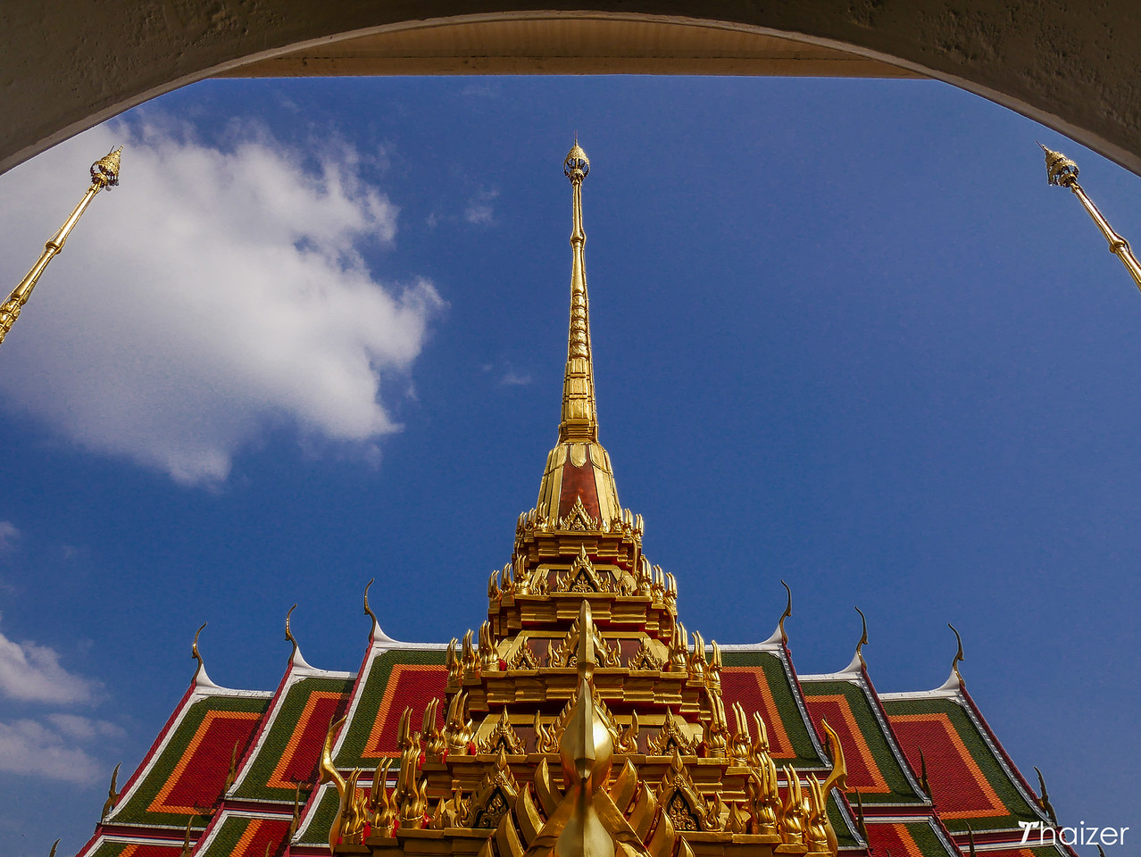 golden spires at Loha Prasat
