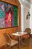Restaurant table at the Grand Hyatt Erawan Hotel in Bangkok, Thailand, Asia.