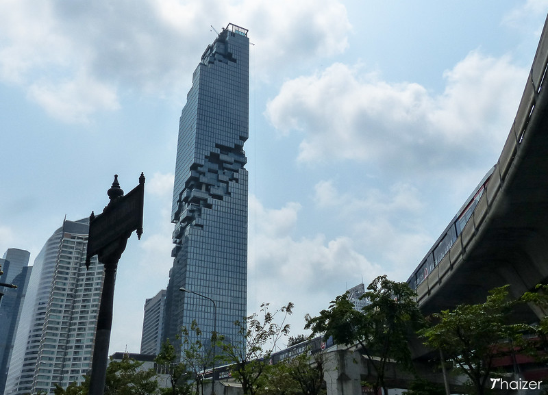 the tallest building in Thailand: MahaNakhon building, Bangkok