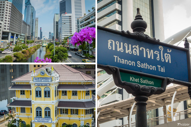 exploring Bangkok's Sathorn district