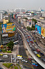 Freeway traffic in Bangkok, Thailand, Asia.