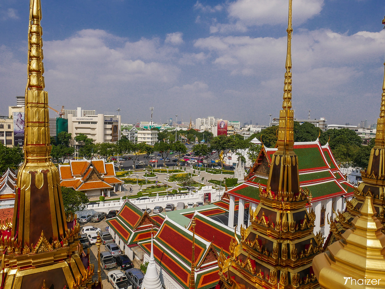 view from top of Loha Prasat, Bangkok