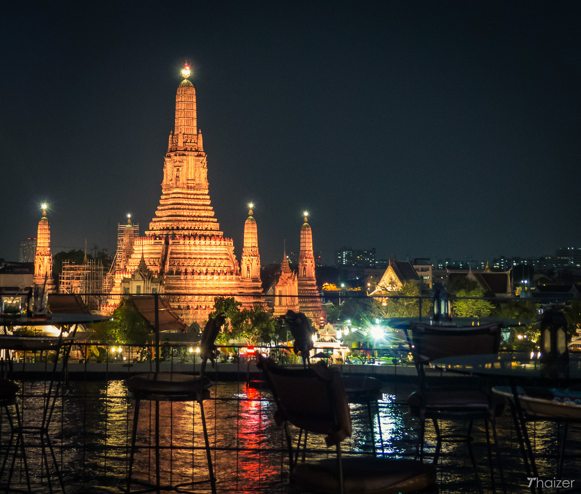 view of Wat Arun from Eagle's Nest at Sala Arun