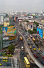 Freeway traffic in Bangkok, Thailand, Asia.