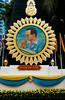 Portrait of the Thai king in Bangkok, Thailand, Asia.
