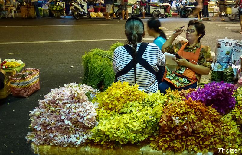 outside Pak Klong Talad Flower and Vegetable Market, Bangkok