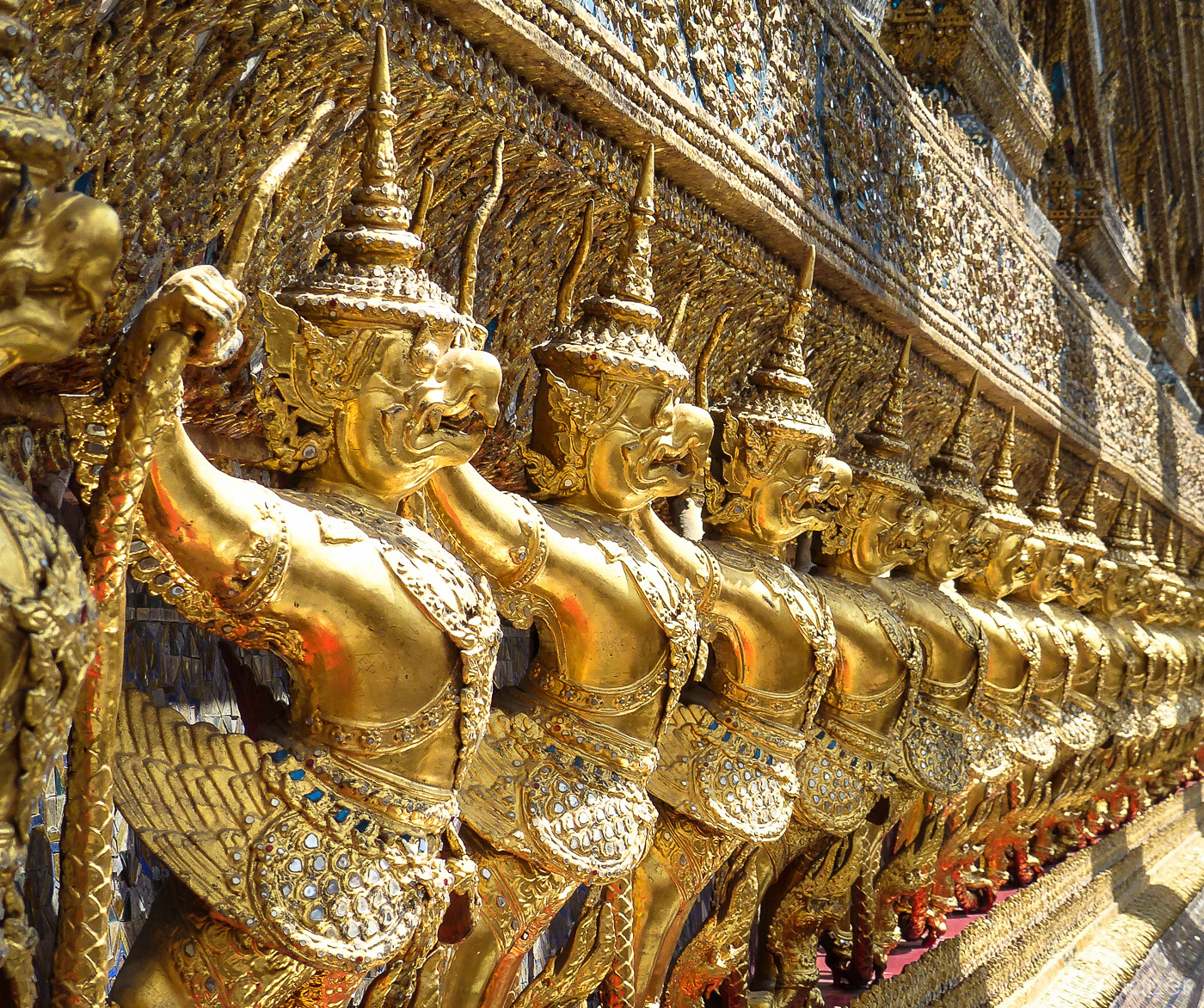 golden decorations at the Grand Palace, Bangkok