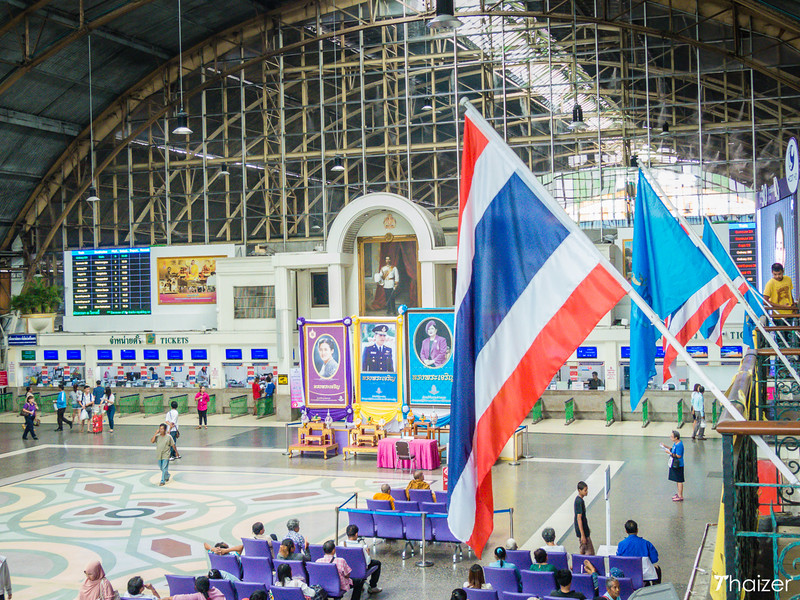 main concourse at Bangkok Hua Lamphong train station
