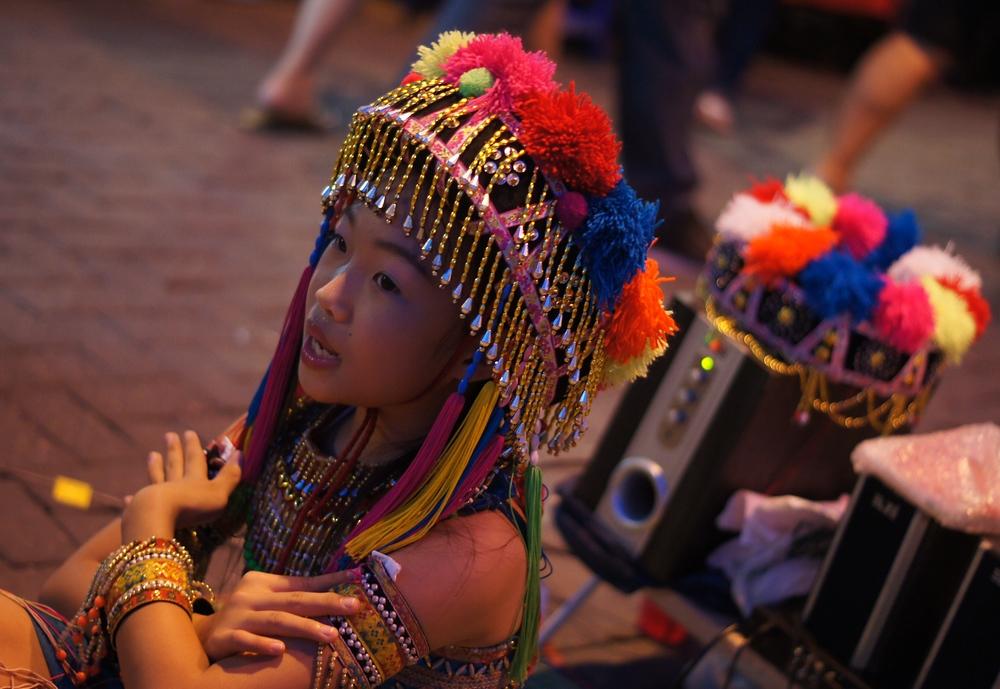 Thai Girl Performer | Night Market | Chiang Mai, Thailand