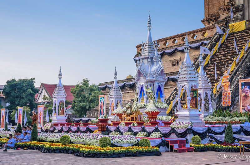 Memorial Decorations  for the Supreme Patriarch Monk