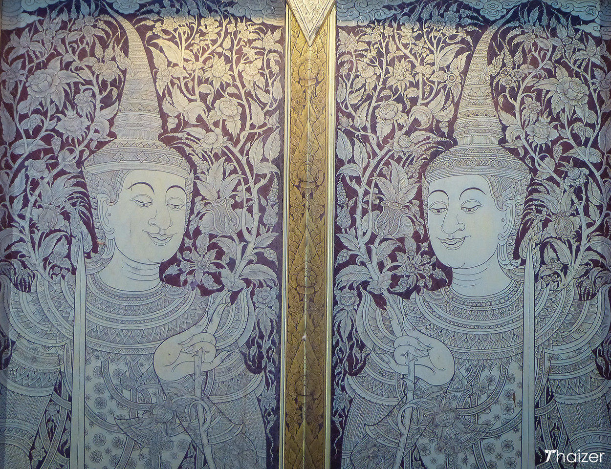 decorative doors at Wat Phra Singh, Chiang Mai