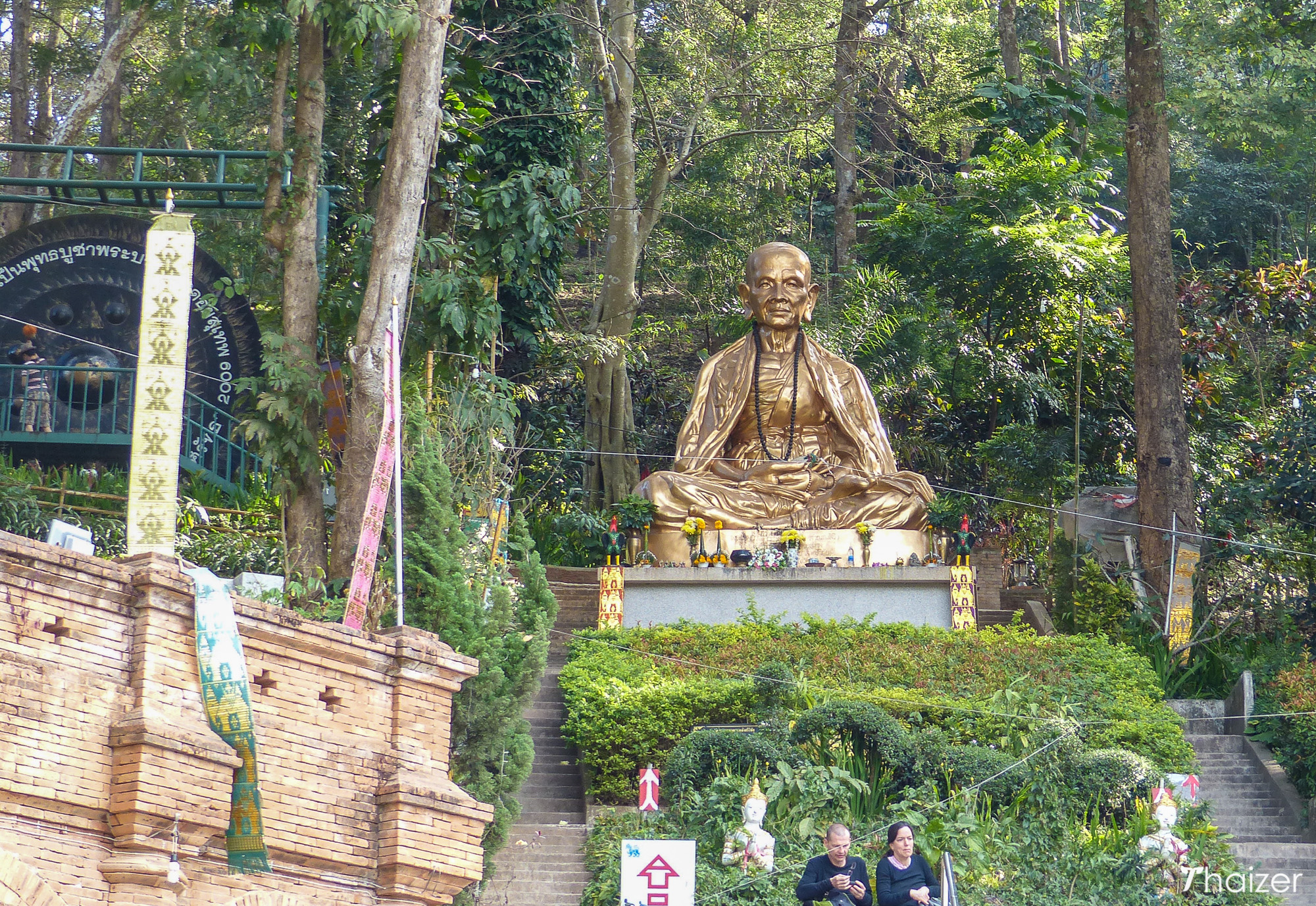 statue of Kruba Srivichai outside Wat Phra That Doi Suthep