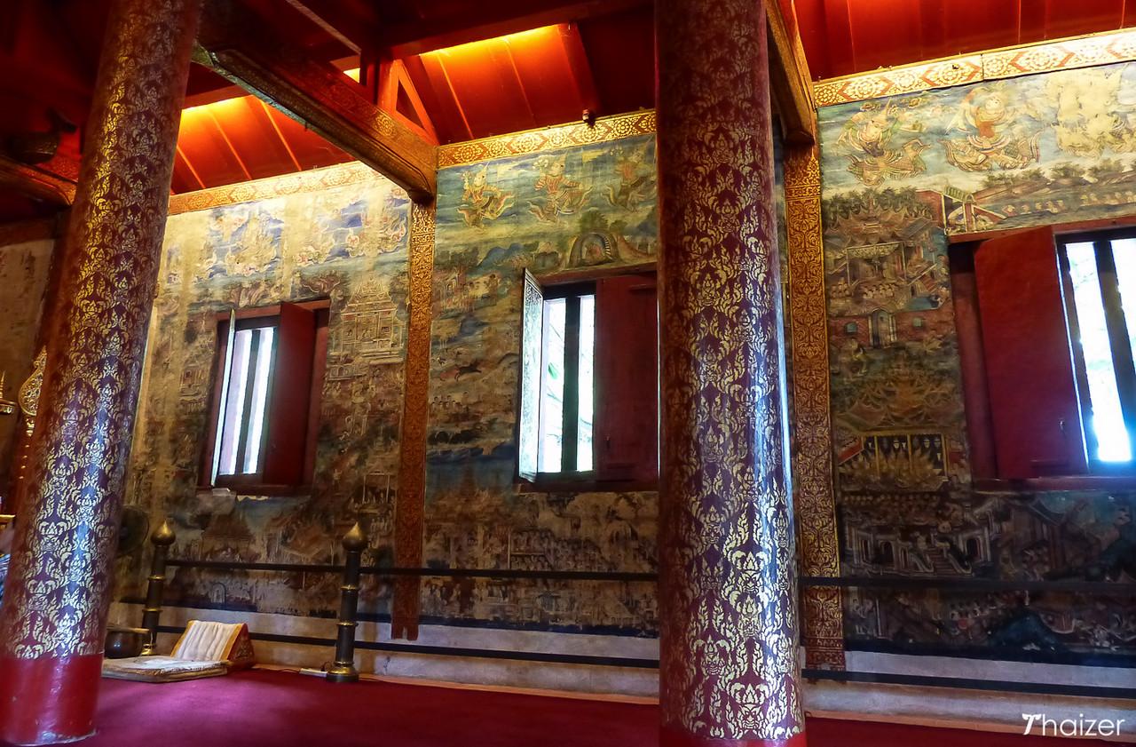 murals at Wat Phra Singh, Chiang Mai