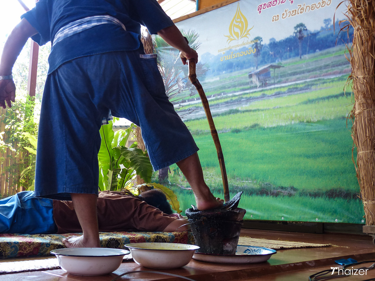 'yum kang' hot oil fire massage in Chiang Mai, Thailand