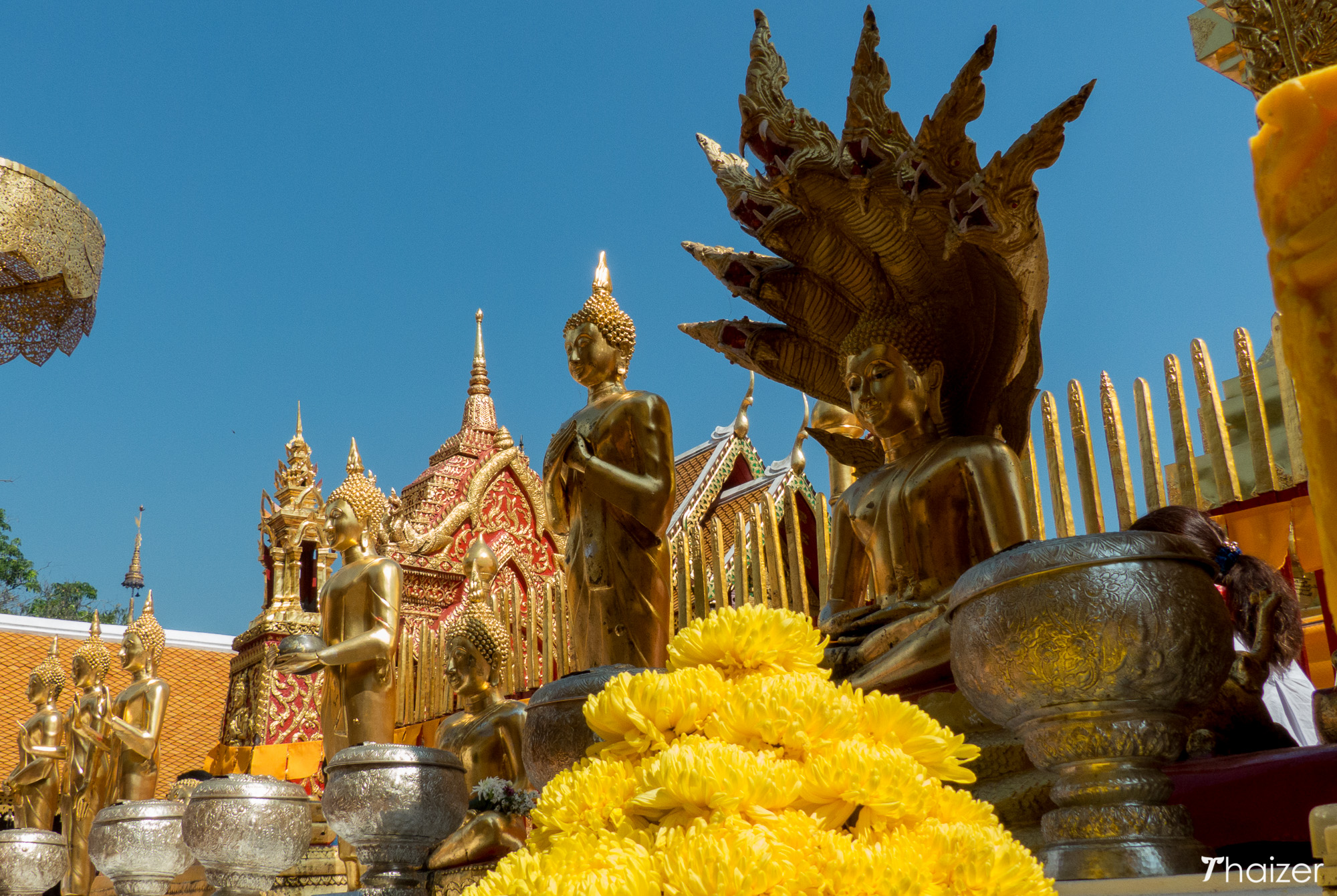 Buddha images at Doi Suthep, Chiang Mai