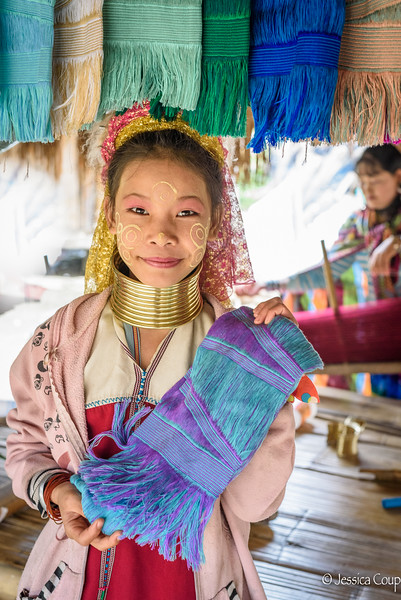 Scarfs Made by the Long Neck Karen Tribe of Thailand