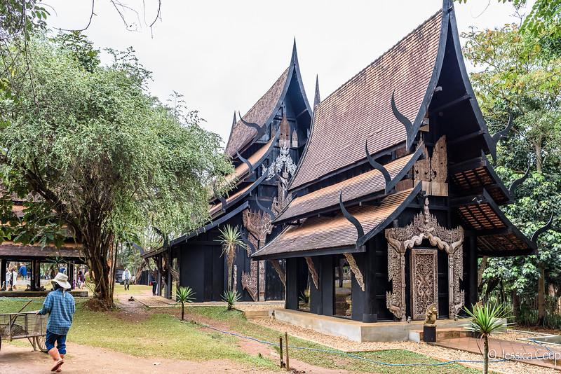 Black Houses on the Black Temple Grounds