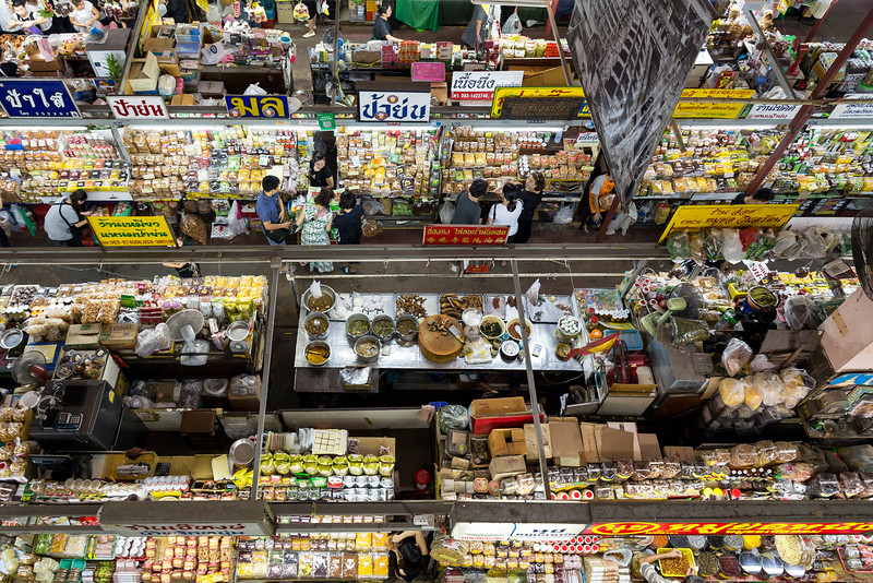 Warorot Market From Above