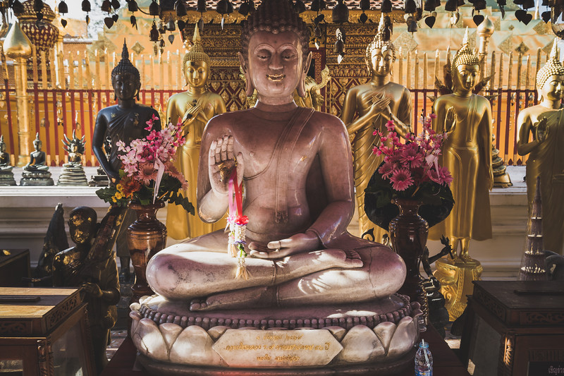 Marble Buddha at Wat Phra That Doi Suthep
