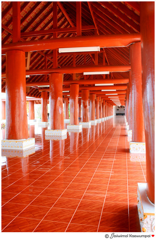 A Lanna style temple made of teakwood.
