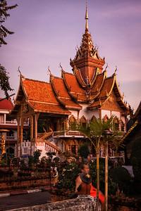 Wat Buppharam, a beautiful temple in Chiang Mai, Thailand.