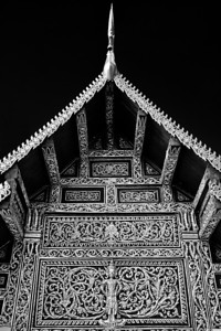 A temple in Black and White around Chiang Mai, Thailand.