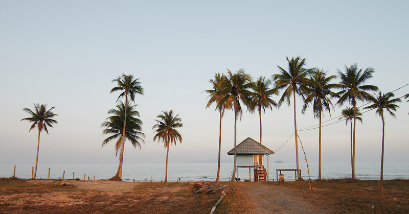 Beach hut at Sananwan Beach, Bang Saphan Noi