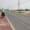 "Sometimes (by chance) we'd end up on Thailand's ""Scenic Route"" with a designated bike lane"