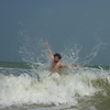 Yann battling the waves in Bang Saphan Noi