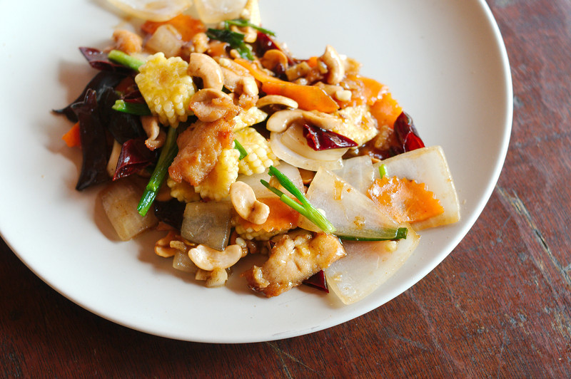 Chicken with cashew nuts (by Margaux)